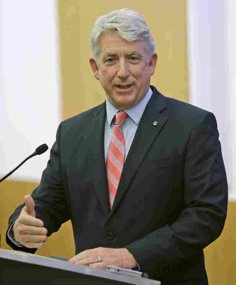 Virginia Attorney General Mark Herring speaks at the Virginia Capitol in Richmond on Dec. 18. Herring's announcement Thursday generated strong partisan responses.