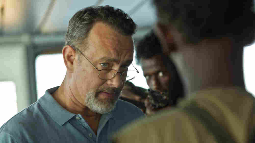 "Prior to filming, director Paul Greengrass kept the pirate crew and the boat crew separate to make the hijacking scenes feel more authentic. ""The hair did stand up on the back of our heads,"" says Tom Hanks, above."