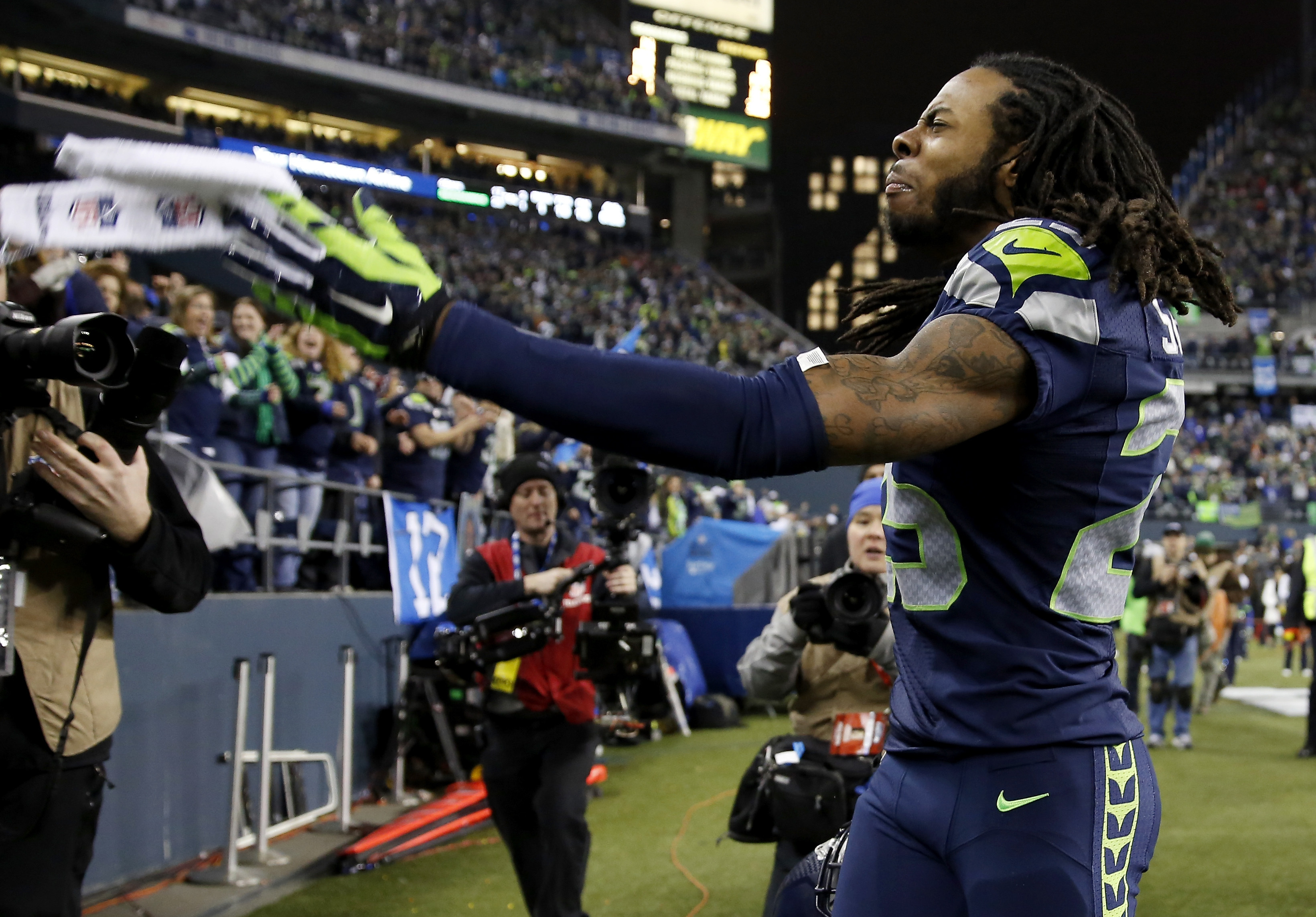 NFL Fines Seattle's Richard Sherman Nearly $8,000