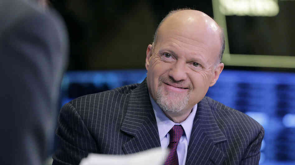 James Cramer, host of CNBC's Mad Money, works at the cable television network's broadcast booth at the New York Stock Exchange, Monday, March 4, 2013.