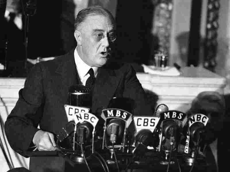 President Franklin D. Roosevelt delivers what is now known as the Four Freedoms speech to Congress on Jan. 6, 1941.