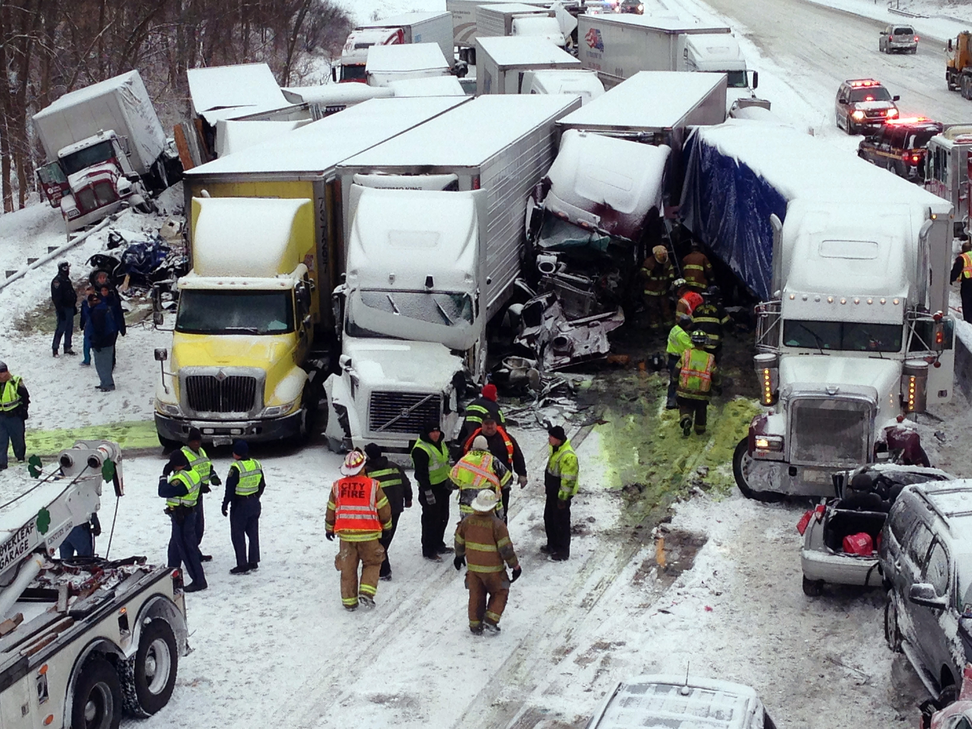 At Least 3 People Killed In 40-Vehicle Pileup In Indiana
