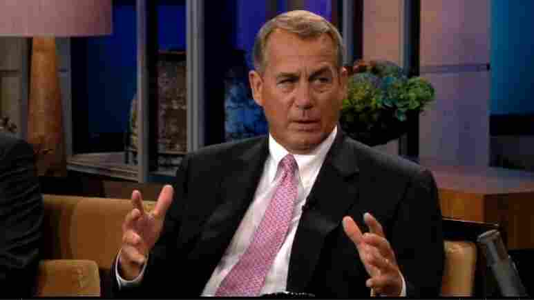 House Speaker John Boehner, R-Ohio, during his appearance on Thursday's The Tonight Show with Jay Leno.