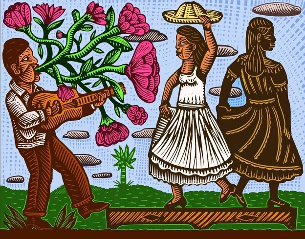 Alec Dempster is a Mexican artist living in Toronto. Many of his pieces focus on Son Jarocho.