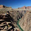 The eastern Grand Canyon was about half-carved (to the level of the red cliffs above the hiker) from 15 million to 25 million years ago, an analysis published Sunday suggests. But the inner gorge was likely scooped out by the Colorado River in just the past 6 million years.