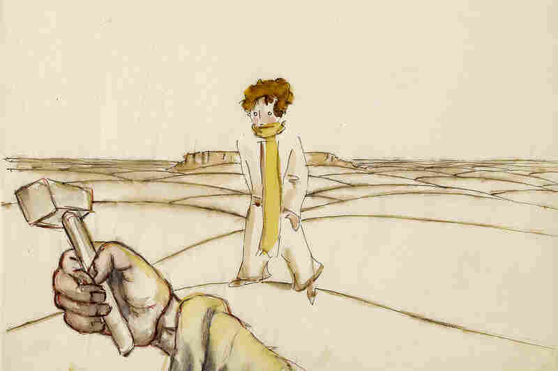 An early illustration for The Little Prince by Antoine Saint-Exupery.