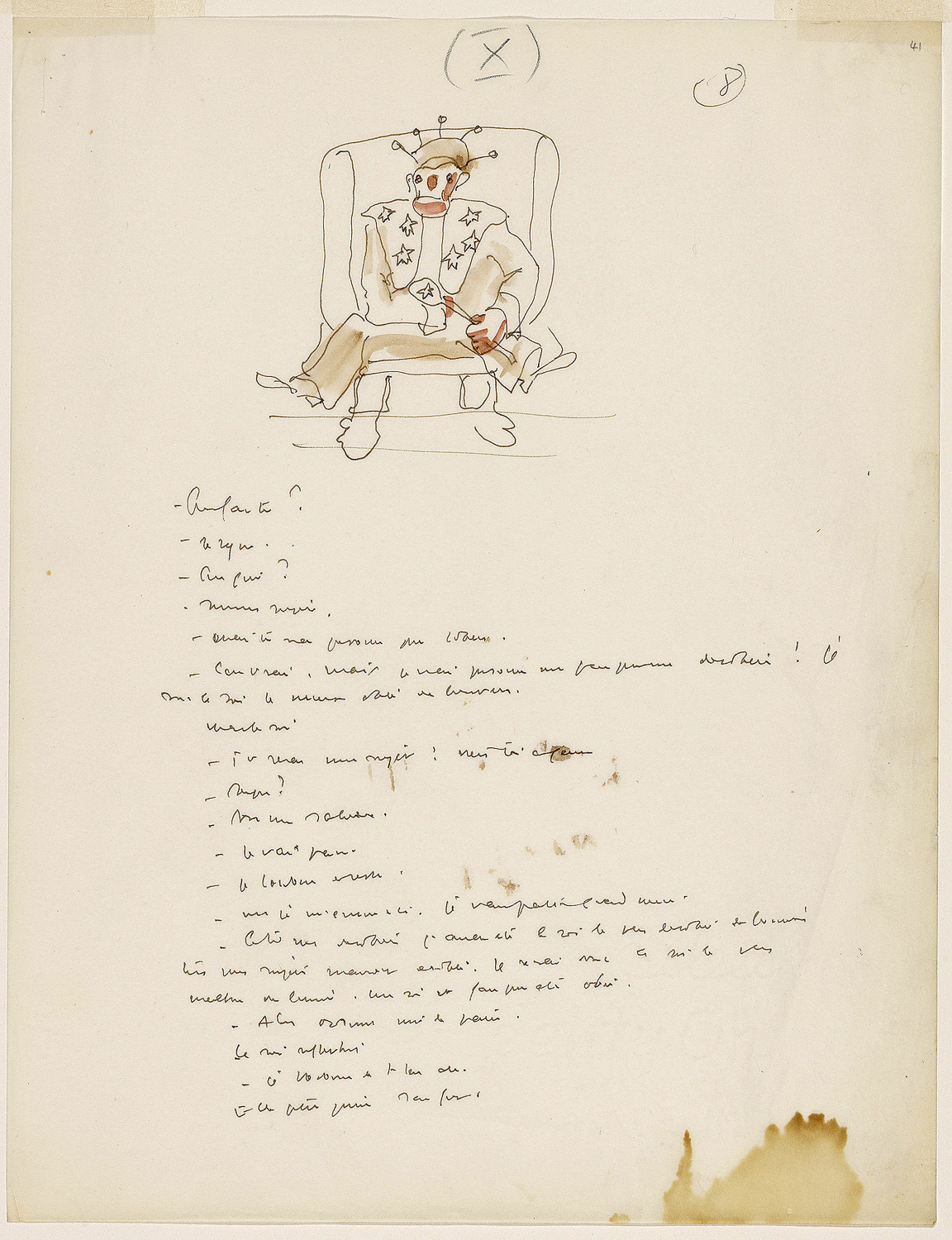 An early manuscript for The Little Prince by Antoine Saint-Exupery.