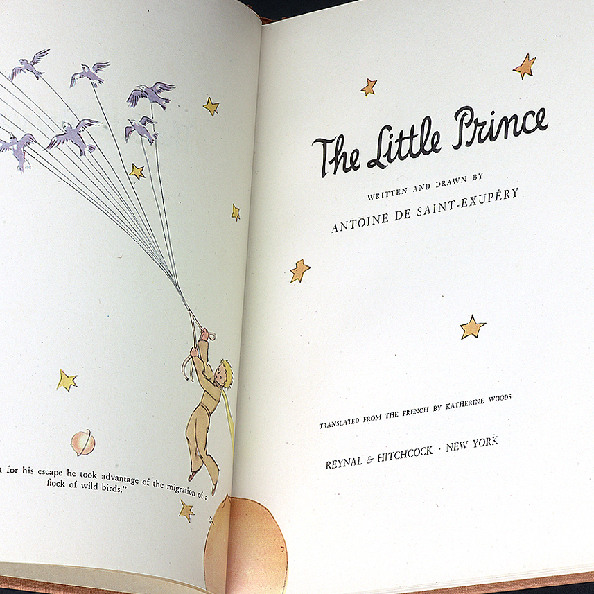 A copy of The Little Prince, written and illustrated by Antoine de Saint-Exupery.