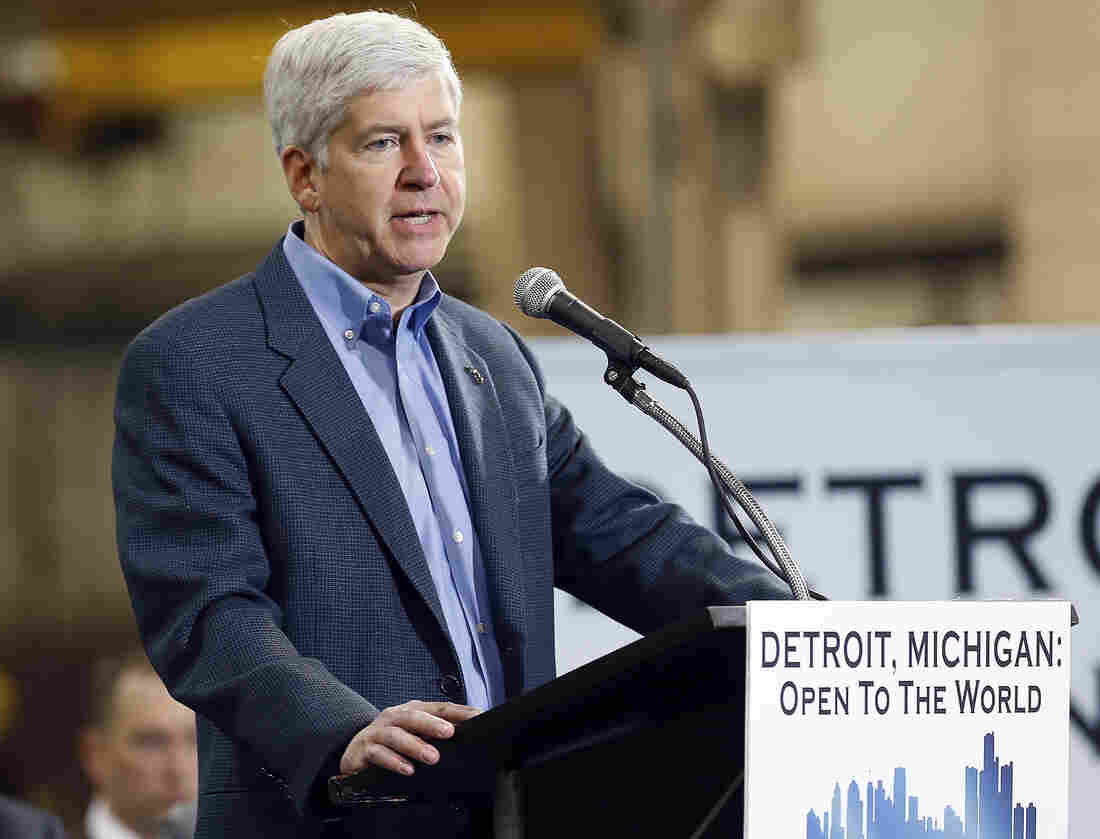 Michigan Gov. Rick Snyder is pushing for changes to federal law to allow