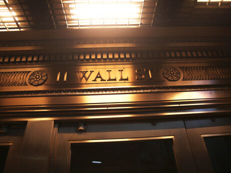 The door over the exit of the New York Stock Exchange.