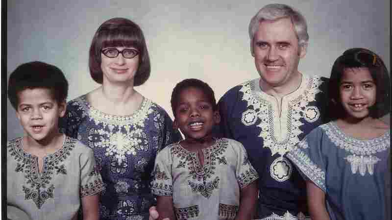 Chad Goller-Sojourner (center) and his family.