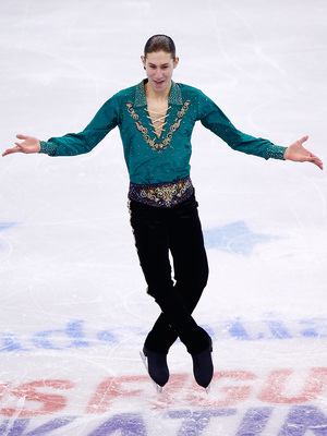 Jason Brown skates during this year's U.S. Figure Skating Championships at TD Garden in Boston. After his free skate was watched more than 3 million times on YouTube, he said,