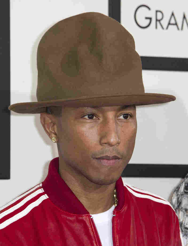 Pharrell Williams wore an unexpected piece of headgear to Sunday's Grammy Awards.