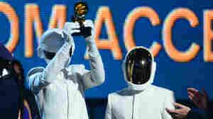 """Daft Punk won the Grammy for Album of the Year for Random Access Memories and for Record of the Year for """"Get Lucky."""""""