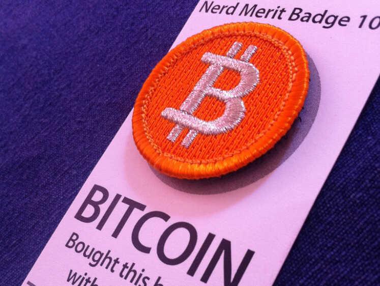 "A bitcoin ""merit badge."""