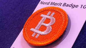 "A bitcoin ""merit badge."""