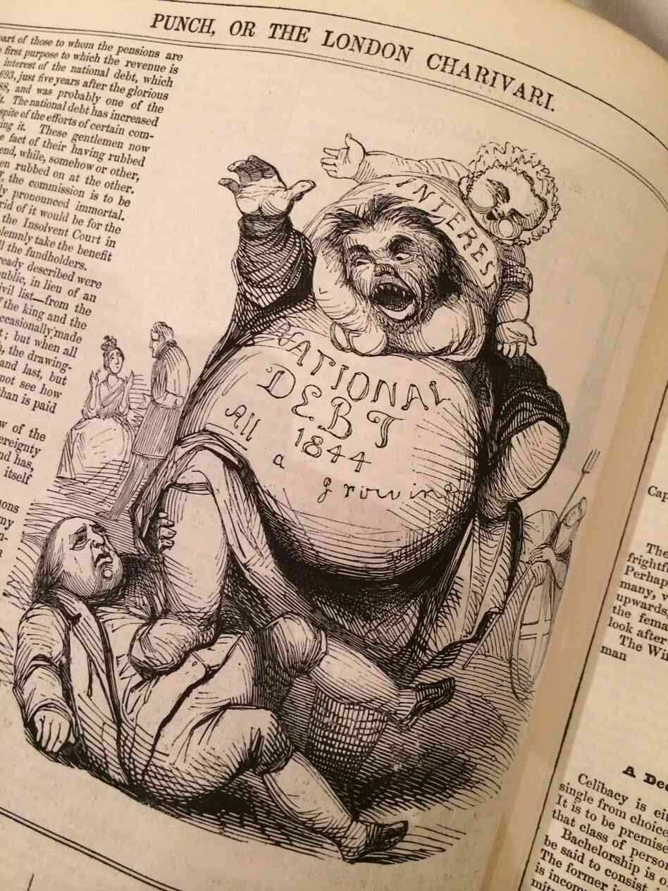 Punch magazine began publishing in 1841 and survived until 2002. It was a British institution and has been credited with introducing humorous cartoons.