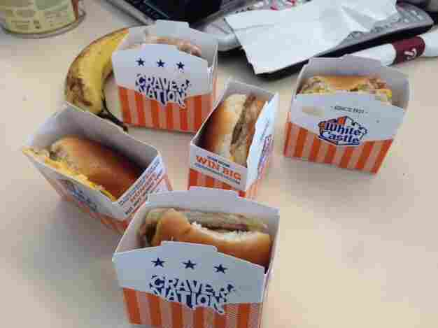 "Sliders come in five-packs, or as White Castle calls them, ""swarms."""