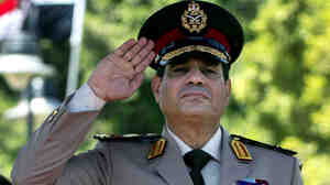 Field Marshal Abdel-Fattah el-Sissi in April 2013, when he was a general and defense minister.