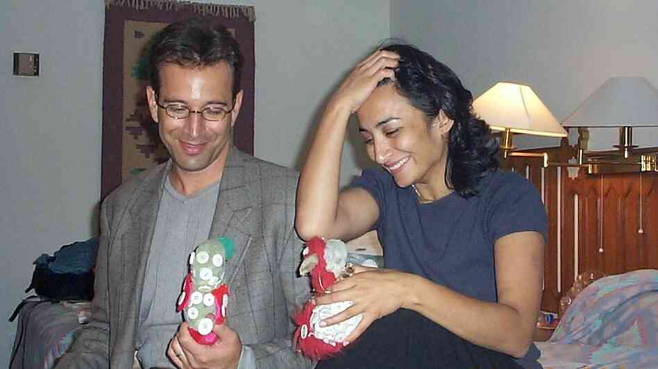 Daniel Pearl and Asra Nomani in Karachi in 2001