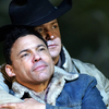 Tom Randle (left) and Daniel Okulitch in the opera Brokeback Mountain.