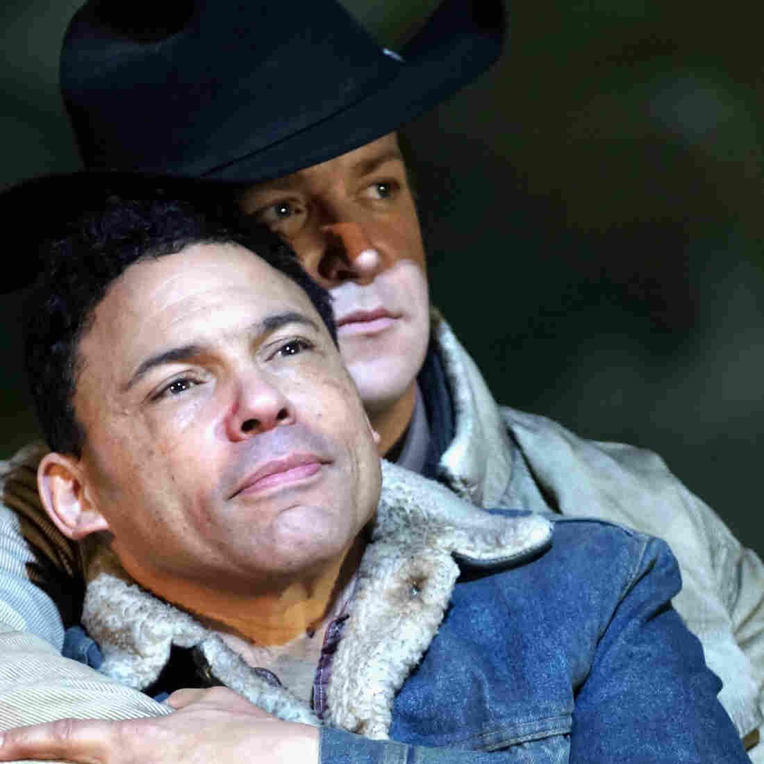 Tom Randle (left) and Daniel Okulitch in the opera Brokeback Mountain.