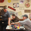 Diners at Lonnie's Roadhouse Cafe eat breakfast before heading to work in Williston, N.D.