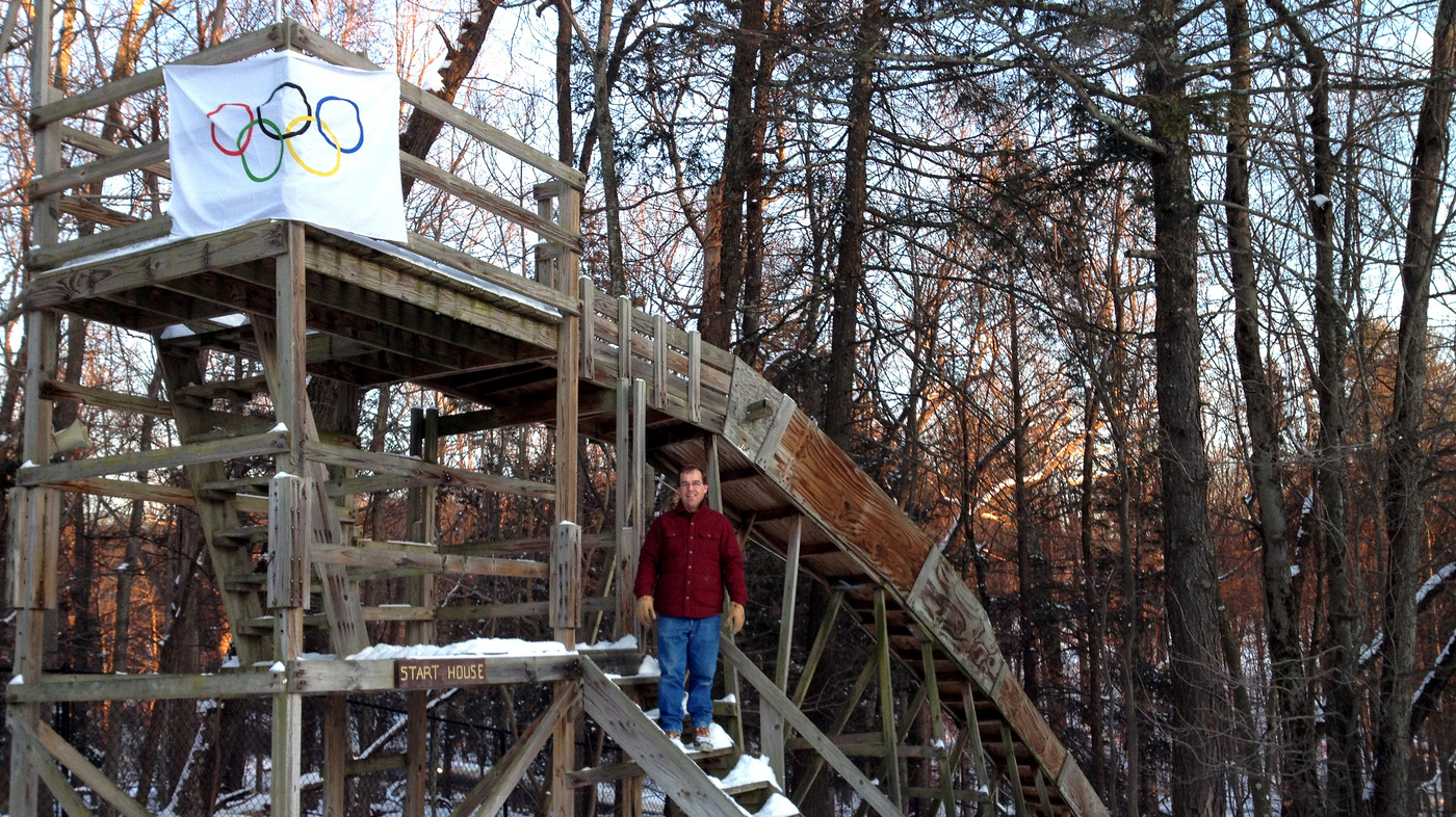 a homemade wooden luge track launches teen to sochi the edge npr