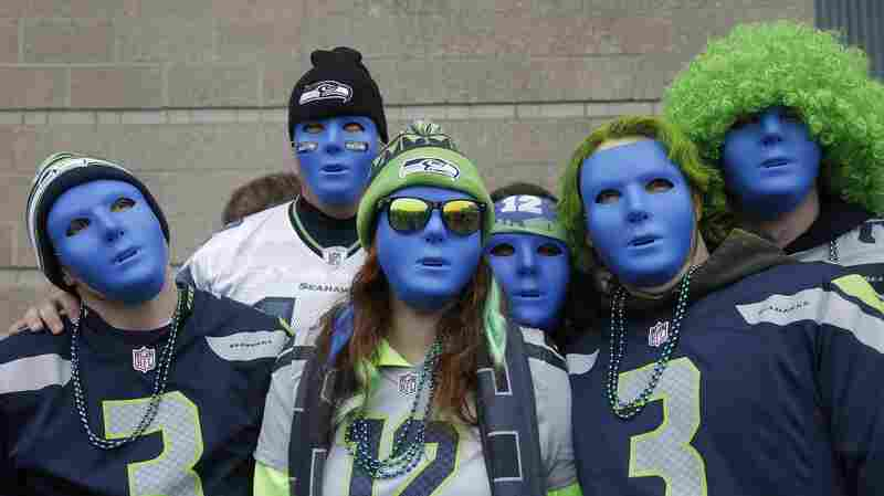 Seattle Seahawks fans, perhaps in a moment of reflection, before the NFC championship game against the San Francisco 49ers on Jan. 19.