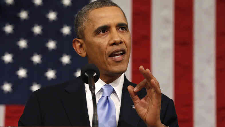 President Obama delivers his State of the Union speech on Capitol Hill on Tuesday.