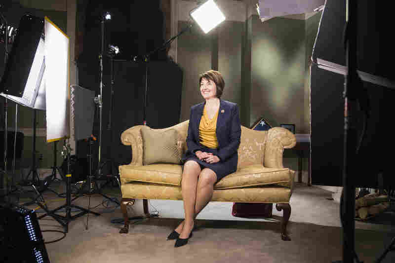 Rep. Cathy McMorris Rodgers, R-Wash., sits during a rehearsal of the Republican response to President Obama's State of the Union address at the Capitol. According to excerpts of her speech released by her office, she will emphasize that Republicans advocate for smaller government and an empowered American public.