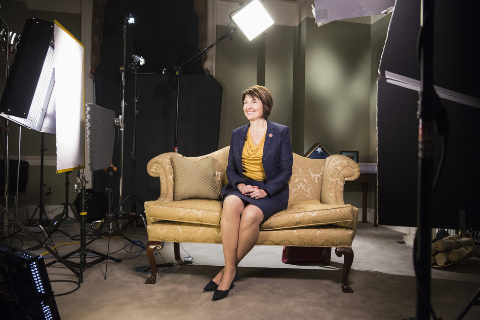 Rep. Cathy McMorris Rodgers, R-Wash., sits during a rehearsal of the Republican response to President Obama's State of the Union address at the Capitol. According to excerpts of her speech released by her office, she will emphasize that Republicans advocate for smaller government and an empowered American public. (Reuters/Landov)