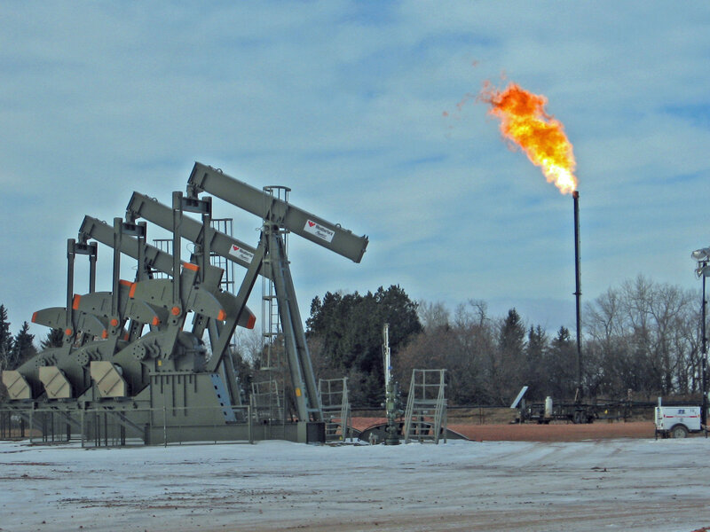 Much Of North Dakota's Natural Gas Is Going Up In Flames : NPR