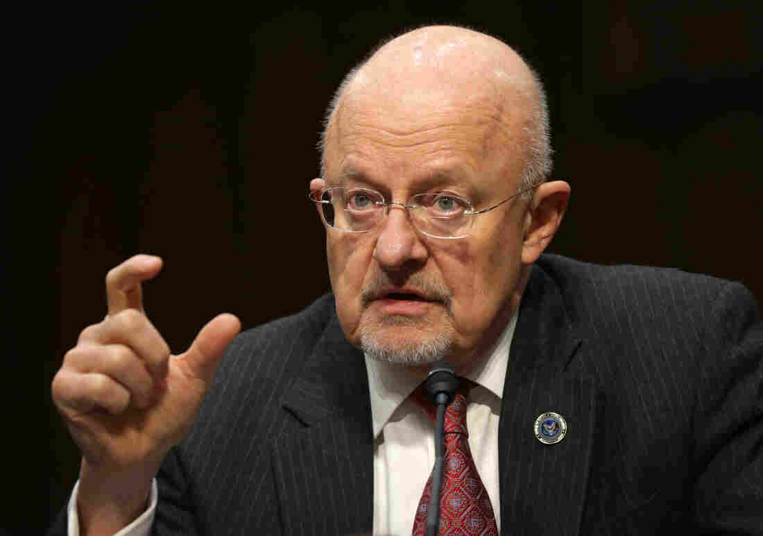 Director of National Intelligence James Clapper testifies during a hearing before Senate Select Intelligence Committee on Wednesday.