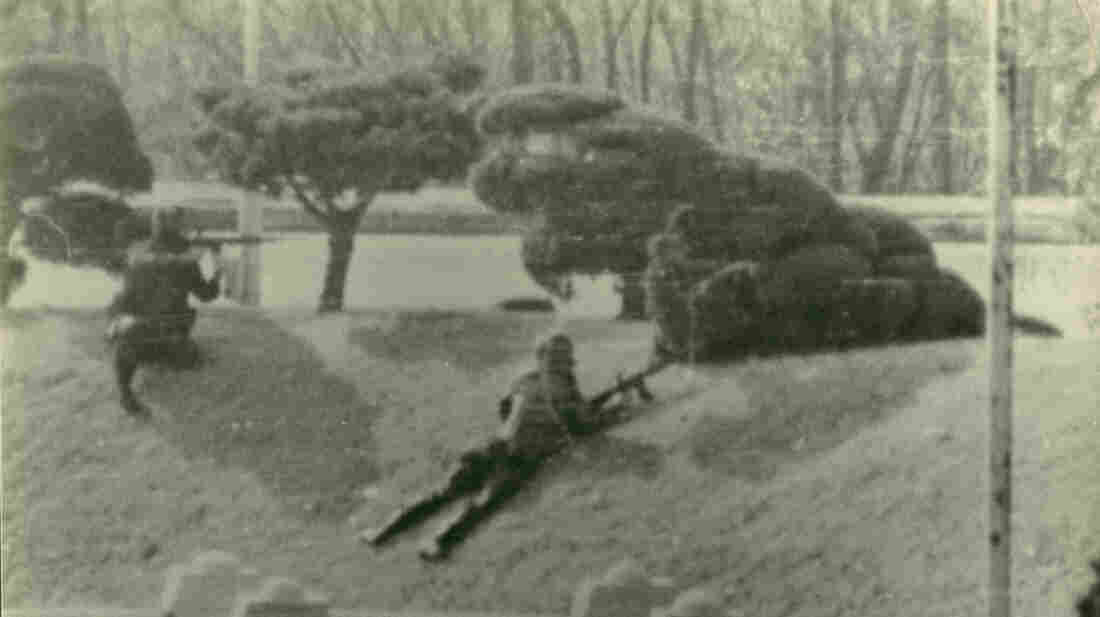 In 1984, an American Army unit engaged in this firefight as it shielded a Soviet defector who made a break across the Demilitarized Zone between North Korea and South Korea. Thirty years after the battle, one of the U.S. soldiers, Mark Deville, has finally received a Silver Star for his bravery.