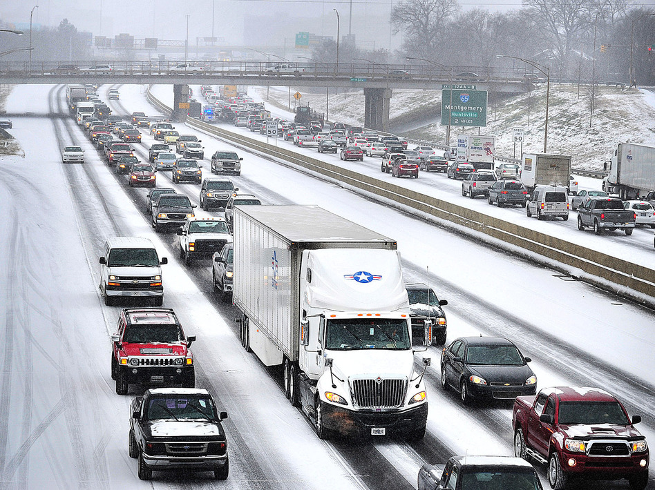Rush Hour From Hell' Drags On In Icy Southern Cities | WBUR News