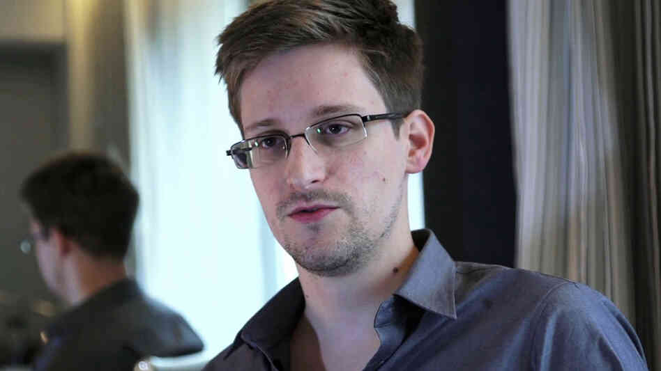 Edward Snowden, seen here in a photo provided by The Guardian, was nominated for the Nobel Peace Prize by two Norwegian politicians.