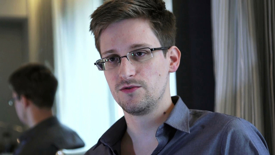 Edward Snowden, seen here in a photo provided by <em>The Guardian</em>, was nominated for the Nobel Peace Prize by two Norwegian politicians.
