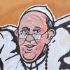 Graffiti artist Mauro Palotta says Pope Francis is the only world leader who stands on the side of the people.