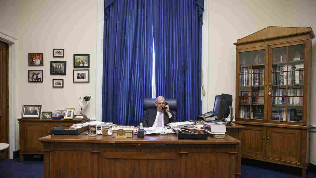 Democratic Rep. Henry Waxman of California fields a flurry of phone calls in his Capitol Hill office just after announcing Thursday that he'll retire after 40 years in the House of Representati