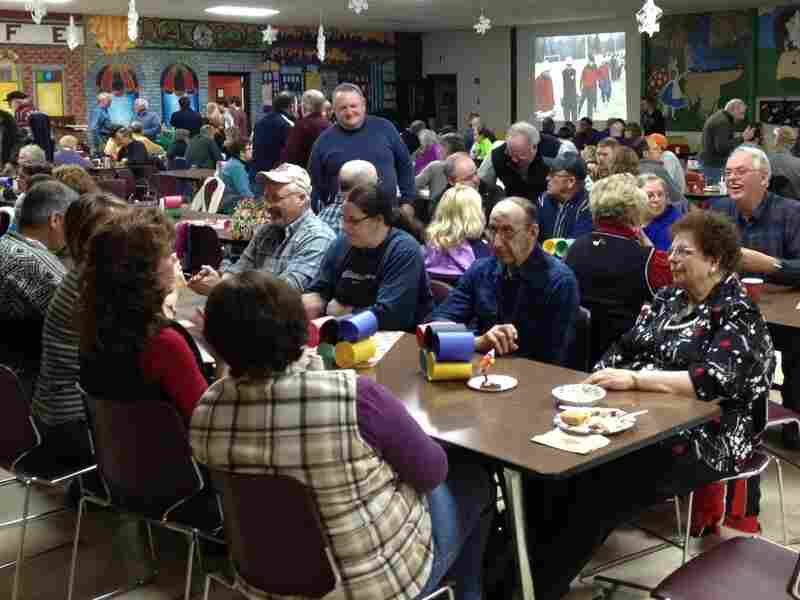 Hundreds of northern Maine residents recently held a spaghetti supper fundraiser to help Russell Currier's parents get to Sochi.
