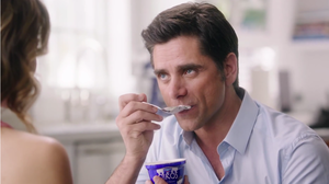 The Full House cast John Stamos, Bob Saget and Dave Coulier are featured in Dannon's Superbowl ad.