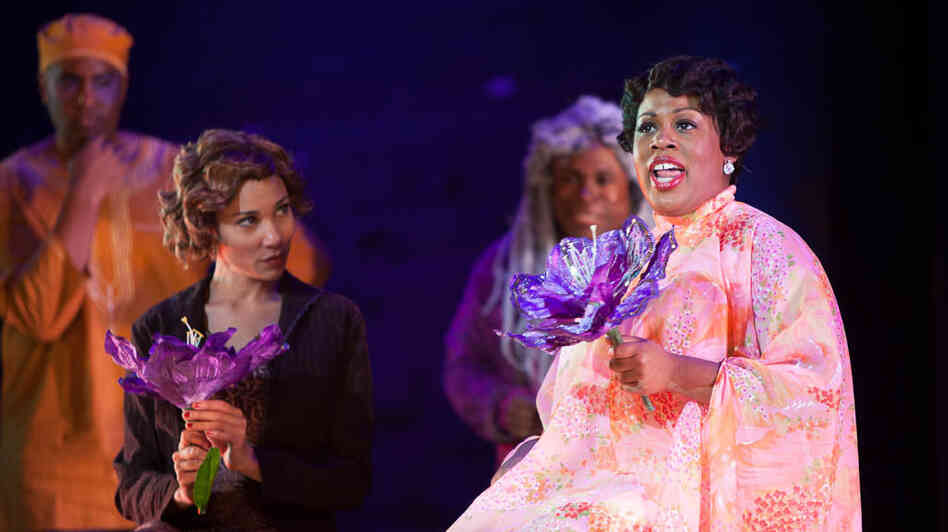 Karen Marie Richardson (right) plays the title role in the Long Beach Opera's staging of Queenie Pie, the jazz opera Duke Ellington left unfinished when he died in 1974.