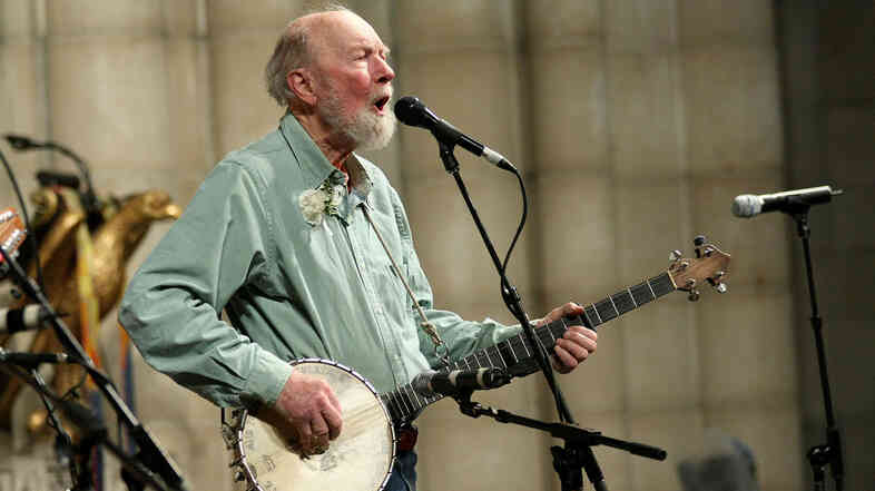Pete Seeger in New York City. 2009.