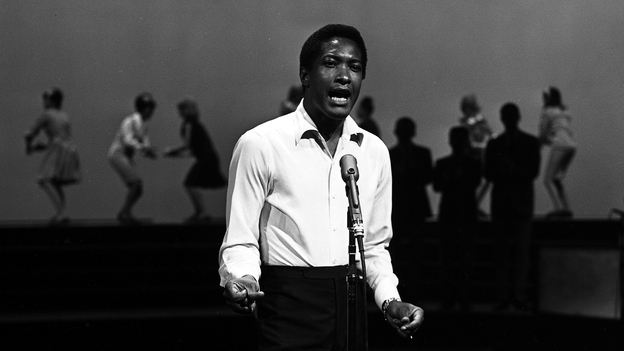 Sam Cooke in 1964, performing on the ABC variety show Shindig! just a few months before his death that December. (Getty Images)