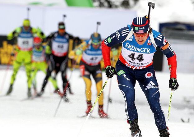 Russell Currier competes at the Biathlon World Championships in Nove Mesto, Czech Republic, last year.