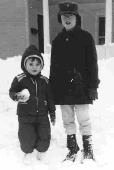 Future blogger Mark Memmott (left) and his brother, John Memmott. Yes, it did snow a lot in the early '60s.