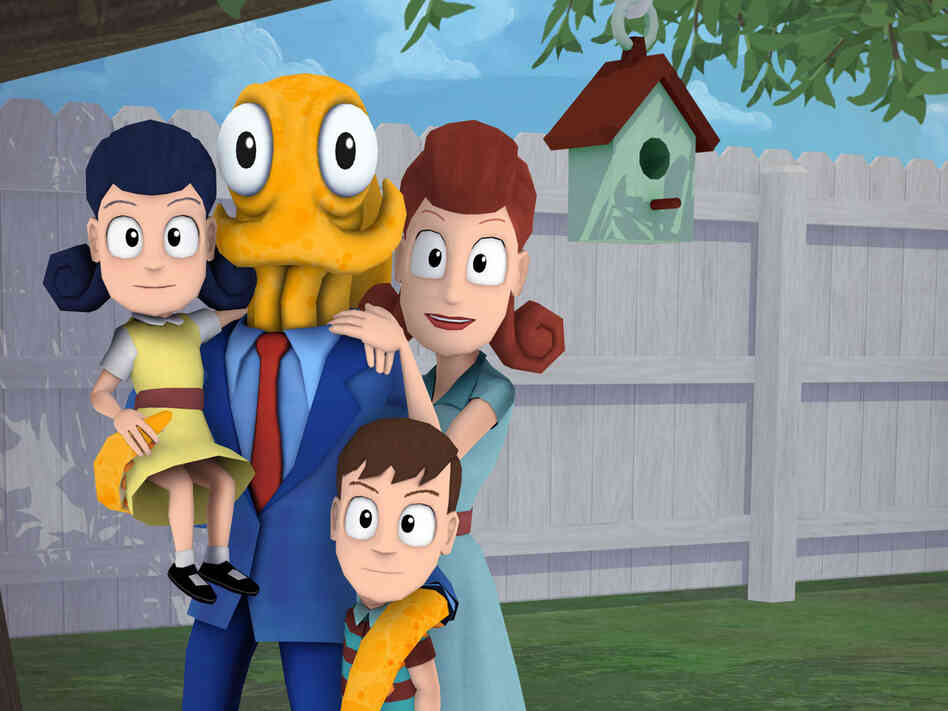In Octodad: Dadliest Catch, you play a mild-mannered octopus living in a human world, struggling to keep your cephalopod secret from your family.