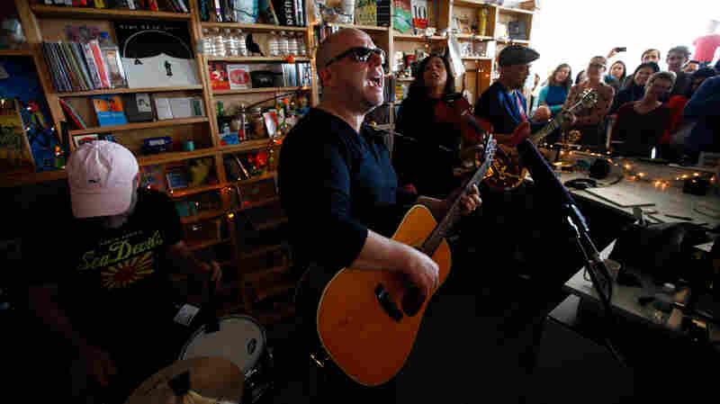 Pixies' members perform a Tiny Desk Concert on Jan. 27, 2014.