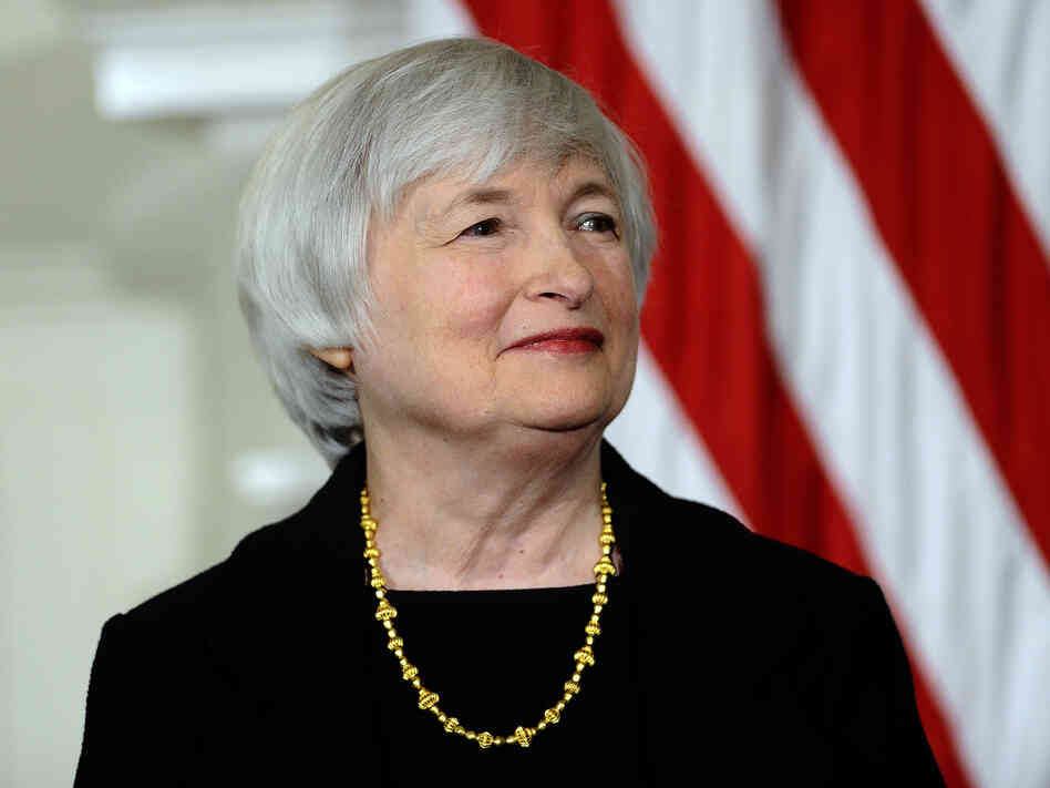 Janet Yellen smiles as President Obama announces her nominat